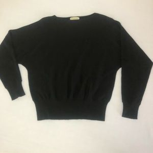 Eddie Bauer Sweaters - Eddie Bauer Black Marino Wool Sweater EUC Medium
